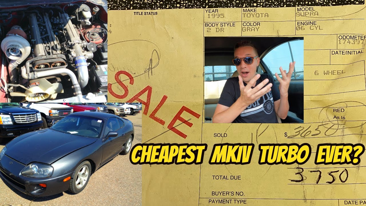 Download This Bank Repo ***$3000*** Toyota Supra Turbo is the cheapest MKIV EVER that got away
