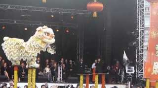 Lion & Dragon Dance - CNY 2014 - Trafalgar Square, London