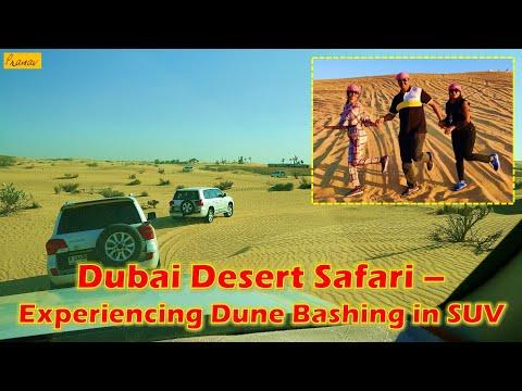 Dubai desert safari – experiencing dune bashing in SUV