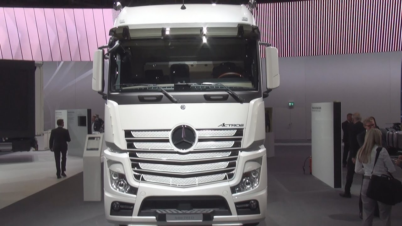 Mercedez Benz Truck >> Mercedes-Benz Actros 2553 LS 6x2/4 Tractor Truck (2017) Exterior and Interior in 3D - YouTube