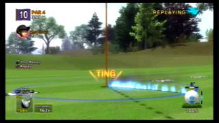 Hot Shots Golf:Out of Bounds. (Back Spin