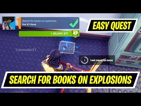Search for books on explosions Fortnite Locations