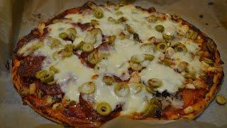 Домашняя пицца, простой, быстрый, вкусный рецепт.