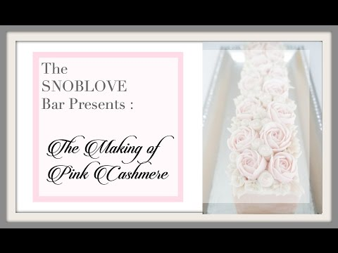 The SNOBLOVE Bar Presents: The Making of Pink Cashmere Bar a Cold Process Soap