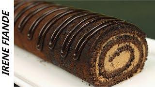 шОКОЛАДНЫЙ РУЛЕТ. Как приготовить вкусный шоколадный бисквитный рулет. Сметанный крем