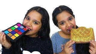 शफ़ा ने चोकलेट मुक़ाबले की चुनौती ली।