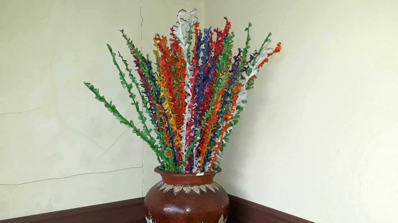 Cara Membuat Bunga Kembang Mayang dari Kertas Minyak atau ...