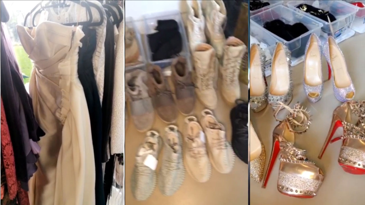 INSANE CLOSET TOUR ! | Kim Kardashian Newest Snapchat ...