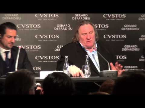 CVSTOS & Gérard Depardieu Proud to be Russian watch collection conference Moscow