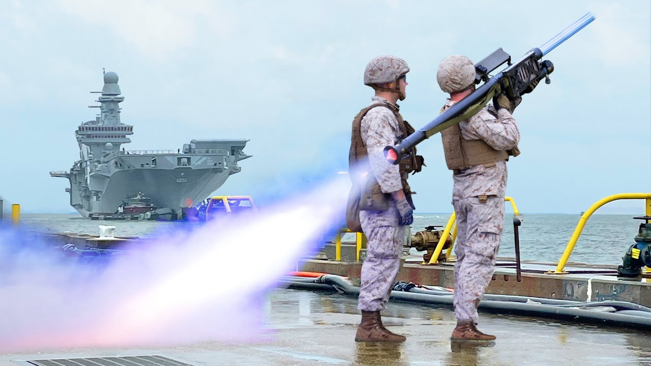 US Marines Launching Insanely Accurate Anti Air Missile