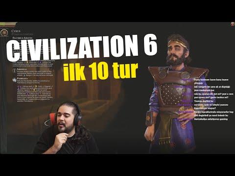 Civilization 6 - Öğretici Oynayış w/ Yiğitcan Tancan İsmail Günhan Turgut