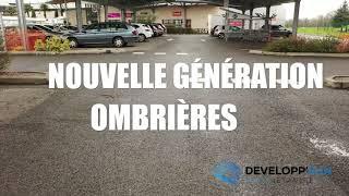 Parking couvert d'ombrières solaire à Gourdan-Polignan