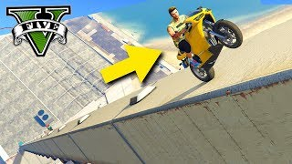 GTA V Online: MEGA RAMPA de MOTOS para as NUVENS!!! (NOSTALGIA)