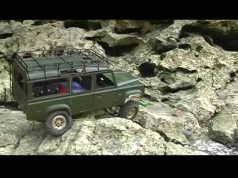 1 10 rc land rover defender 110 test part 1 youtube. Black Bedroom Furniture Sets. Home Design Ideas