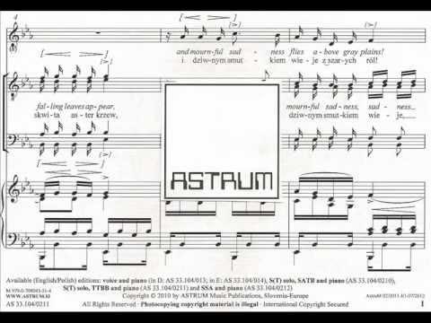 Chopin / arr. Jereb : REGRET / ŻAL for soprano solo and male voices (TTBB) & piano