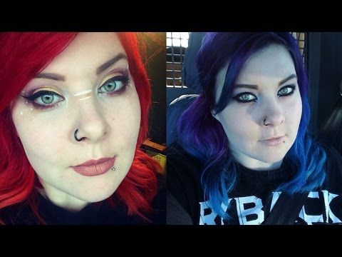 Red to Blue Hair Dye Tutorial and Tips
