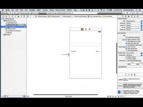 1 Xcode 7 TextField Delegate ResignFirstResponder - YouTube