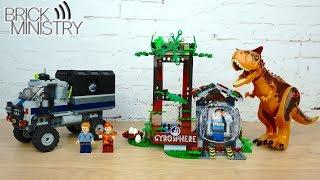 [Обзор] LEGO 75929 Jurassic World ● Побег в гиросфере от карнотавра