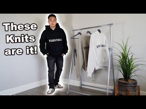 Fear of God Essentials Knit Hoodies  are in! (Review and try on haul)