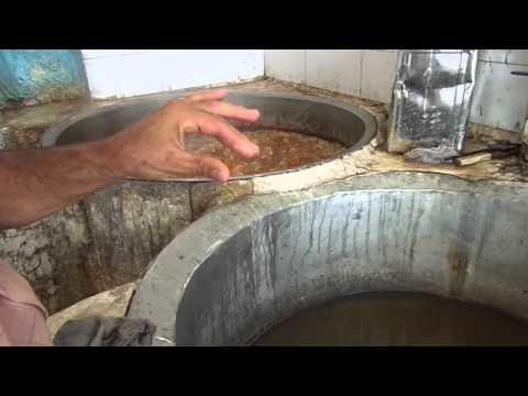 Traditional Iranian candy melting sugar producing, Yazd Iran