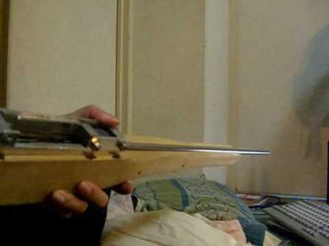 Homemade bolt action rifle