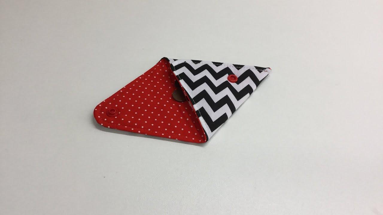 coudre un petit porte monnaie triangulaire tuto couture. Black Bedroom Furniture Sets. Home Design Ideas