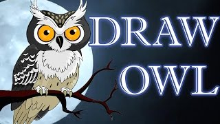 How To Draw An Owl | Easy Steps To Follow | Creative Art Activity
