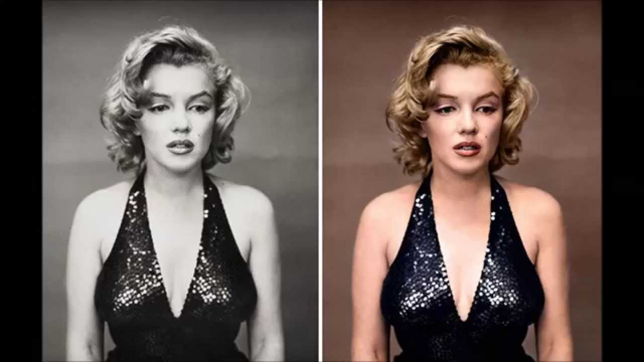 Historic black and white pictures restored in colour