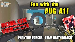 Fun with the AUG A1 in PHANTOM FORCES ROBLOX edition!