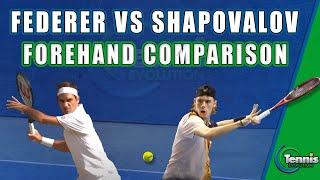 TENNIS PRO: Roger Federer vs Denis Shapovalov Forehand Comparison