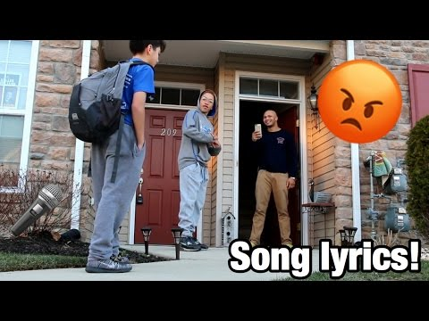 SAYING SONG LYRICS AT PEOPLE'S DOORSTEP PRANK!