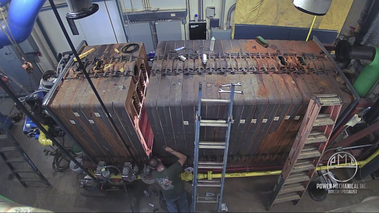 Cast Iron Sectional Boiler assembly - YouTube