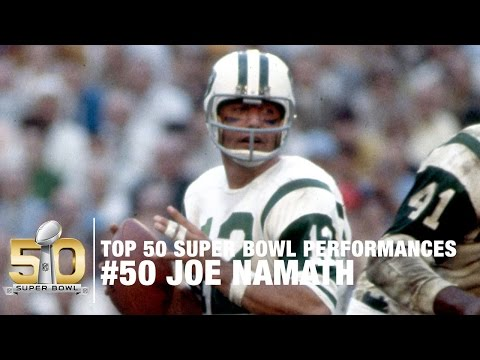 #50: Joe Namath Super Bowl III Highlights | Top 50 Super Bowl Performances