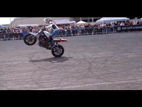 Girl stunt rider at the Street Fighter  Wembley