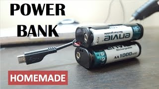 How to make Mini Tic Tac Power Bank / USB mobile Charger at HOME - Without Charger FAST