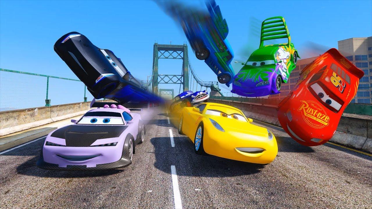 Street Race Crash Cars 3 Mcqueen Jackson Storm Cruz