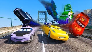 Street Race Crash Cars 3 McQueen Jackson Storm Cruz Ramirez Boost Wingo & Friends