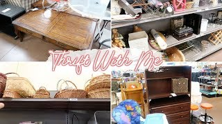 THRIFT SHOP WITH ME FOR FARMHOUSE HOME DECOR | Goodwill Shop With Me & Thrift Haul