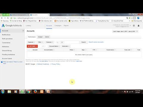 Đăng ký tài khoản quảng cáo google adwords chỉ với một email cho nhiều tài khoản - Bài 1