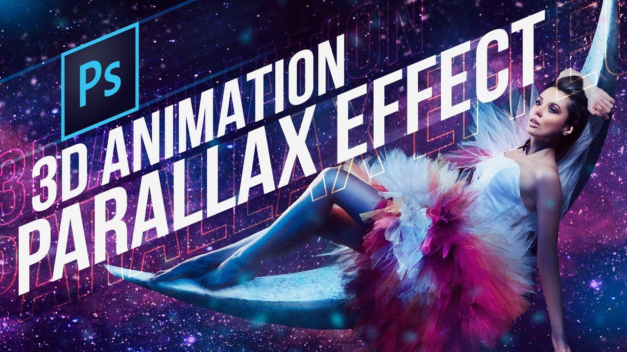 Photoshop CC 3D Animation Parallax Effect Tutorial
