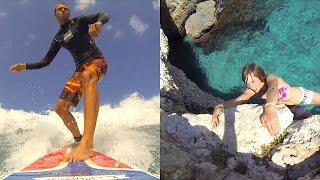 Deep water solo & Surf Trip, Mallorca 2013