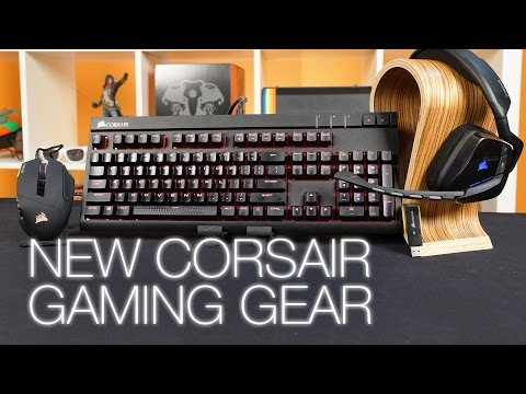 Corsair Gaming Void headset, Scimitar mouse, & Strafe keyboard