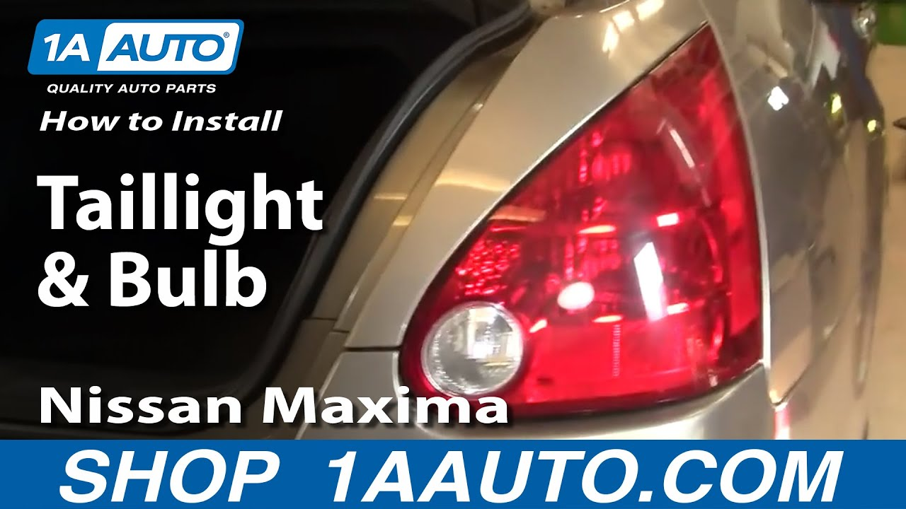 how to install replace taillight and bulb nissan maxima 04 08 1aauto rh youtube com nissan radio wiring harness diagram 2004 nissan maxima wiring diagram [ 1920 x 1080 Pixel ]