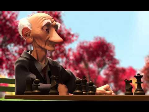 Мультфильм дед играет в шахматы