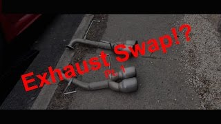 homepage tile video photo for Subaru Exhaust Swap Part 1 Muffler Deletes- 2016 Subaru WRX