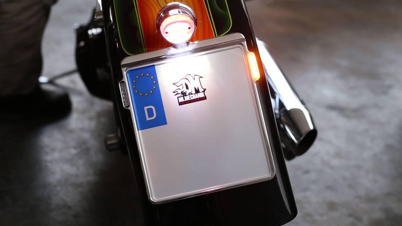 Kennzeichenhalter Dr. Mechanik Harley Davidson Delight Flash - YouTube