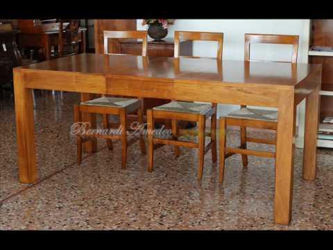 Tavolo allungabile in noce nazionale design moderno - Tavolo in noce nazionale ...