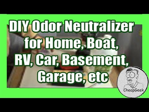DIY Odor Neutralizer for Home Boat RV Car Basement Garage etc... - YouTube