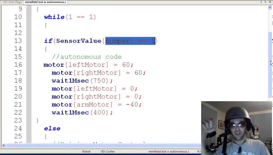 Minefield Challenge Autonomous Coding On Robotc Youtube