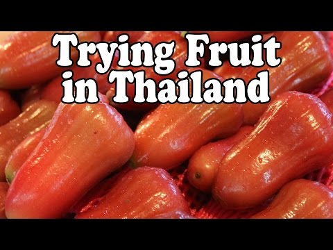 Taste Testing Thai Fruits at a Market in Thailand, Part 3. Exotic Fruit Shopping in Thailand Vlog